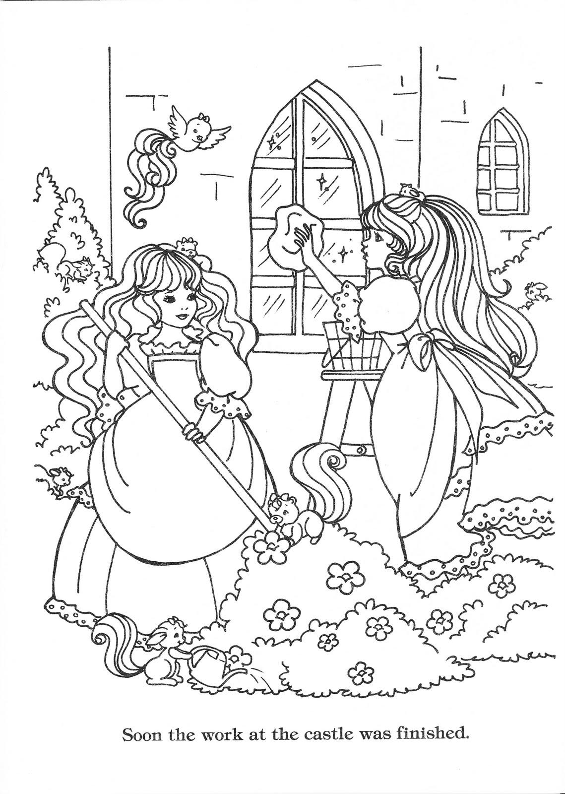 lady lovely locks coloring book  lady lovely locks
