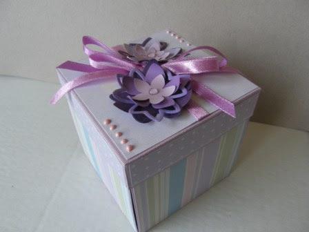 Pastelowe pudełko handmade