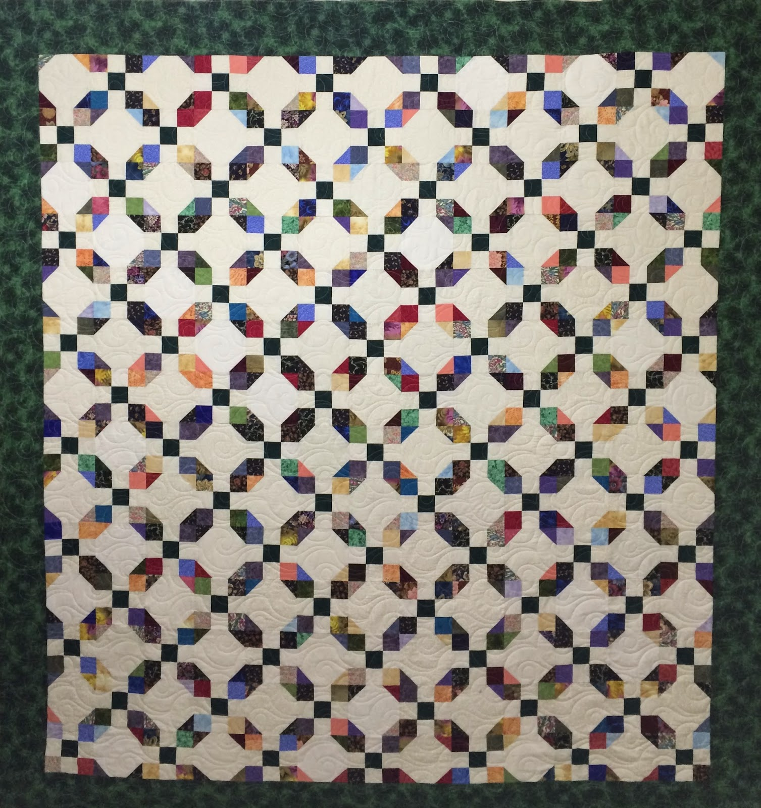 Angie McBride's Scrap Nine Patch and Snowball Quilt