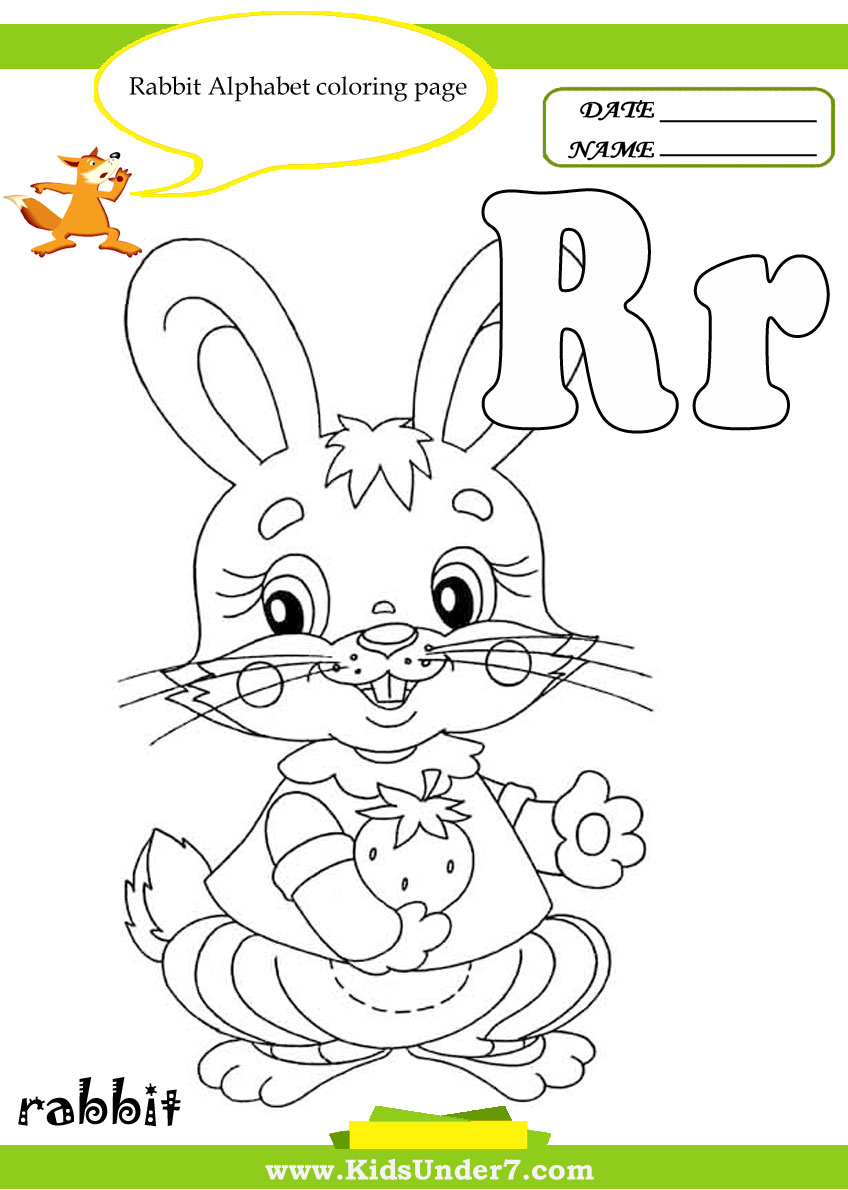Kids Under 7 Letter R Worksheets and Coloring Pages – R Worksheets