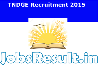 TNDGE Recruitment 2015