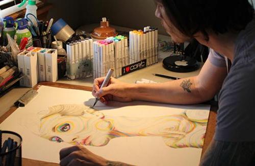 18-Joshua-Roman-Joshua-Roman-Rainbow-Portraits-Drawings-Illustrations-www-designstack-co