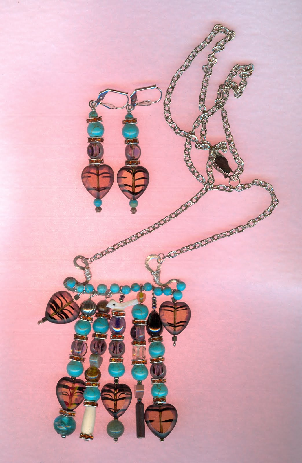 Bohemium necklace and earrings