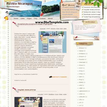 Review Nicaragua template blog from wordpress. travel blog template. template blogger travel for blog
