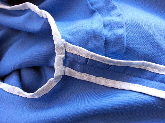 Seambinding blue dress cotton sateen | www.stinap.com