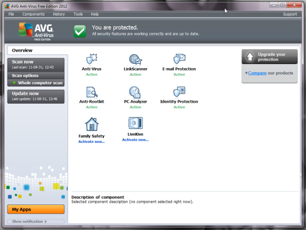 AVG Antivirus 2012 With 1 Year Genuine License Key