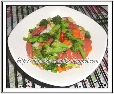 Resep Masakan Brokoli, Olahan Sosis, Tumis Brokoli Sosis