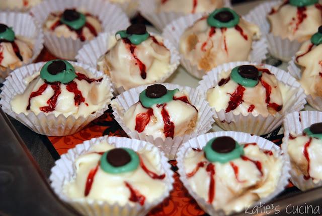 Peanut Butter Eyeball Truffles - Katie\'s Cucina