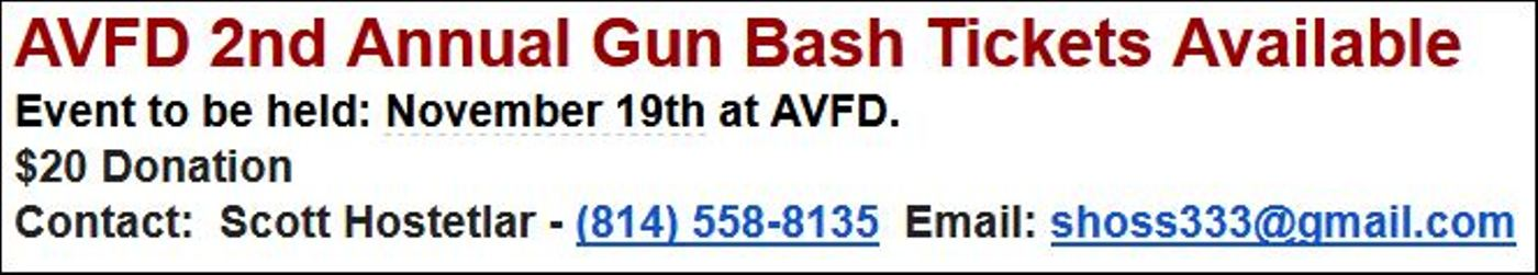 11-19 Austin VFD Gun Bash SOLD OUT