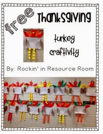 http://www.teacherspayteachers.com/Product/FREE-Thanksgiving-Turkey-Writing-Craftivity-1570148