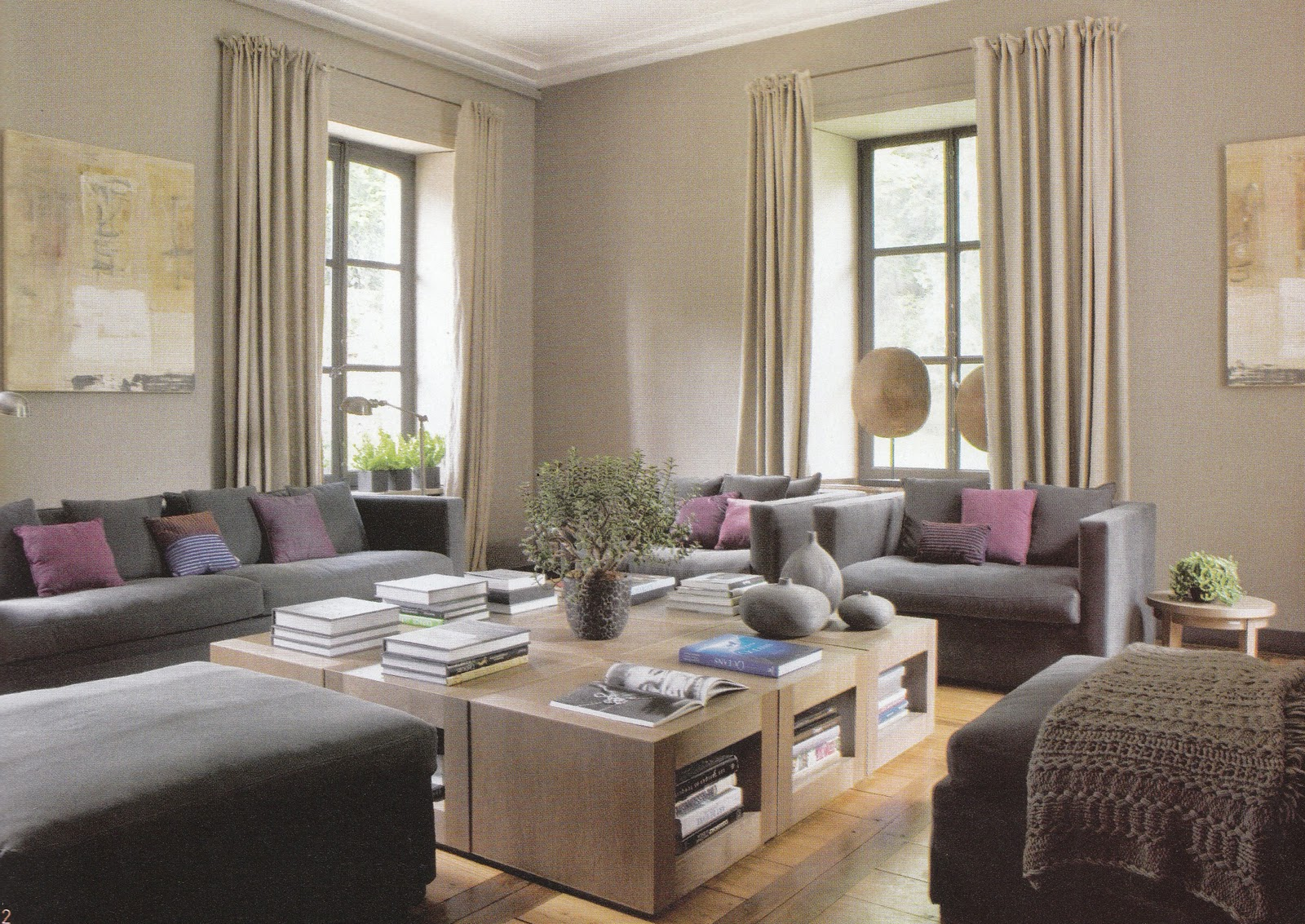 Isabelle h d coration et home staging novembre 2011 for Peinture gris perle salon