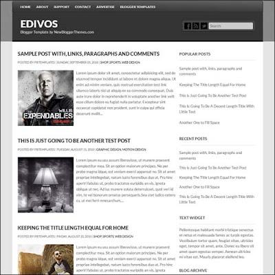 Edivos Blogger Template