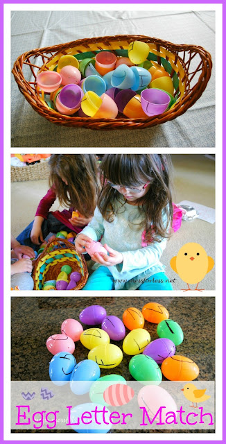 Easter Egg Idea - Letter Matching Game: Finally a use for all those plastic eggs that seem to multiply every year! #easter