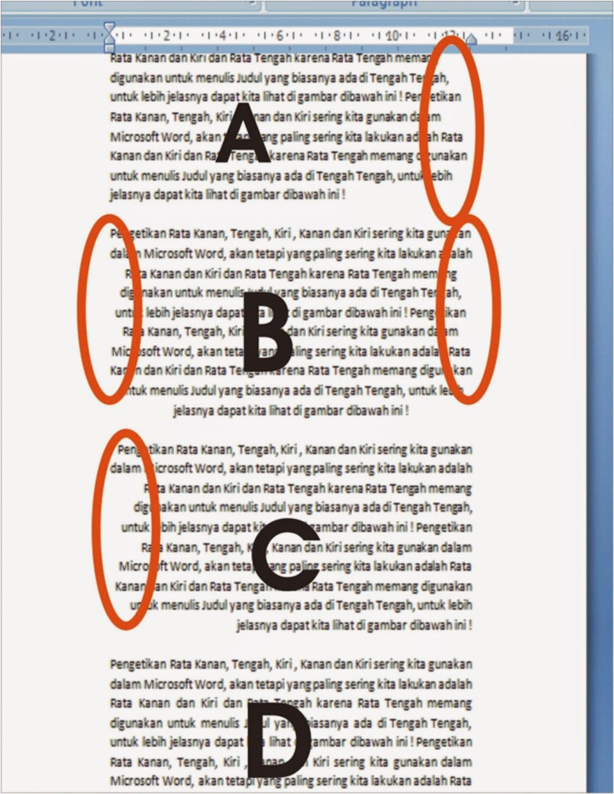 Pengaturan Rata Kanan Rata Kiri Rata Tengah Dan Rata Kanan Kiri Dalam Microsoft Word Belajar Microsoft Office Dan Bahasa Inggris