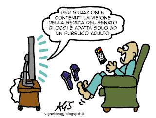 Barani, senato, satira vignetta