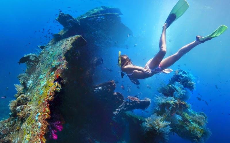snorkeling Pulau Bintan, Indonesia