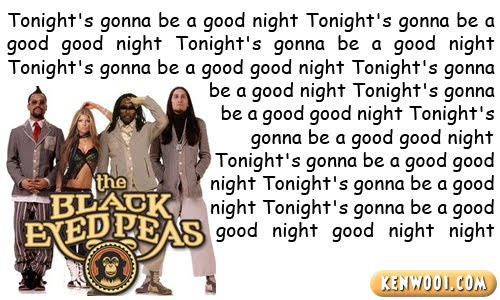 black eyed peas gotta feeling