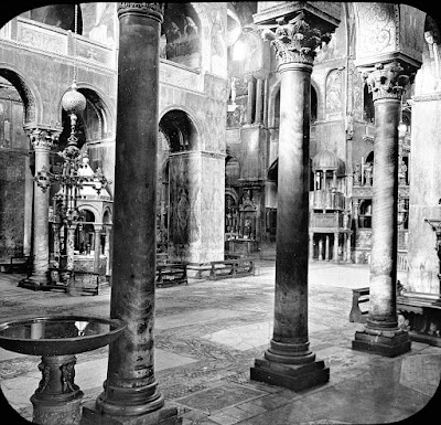 S. Marco, Venice, Italy. S. Marco, Venice, Italy. Venice - St. Mark's, interior looking diagonally. Brooklyn Museum Archives, Goodyear Archival Collection