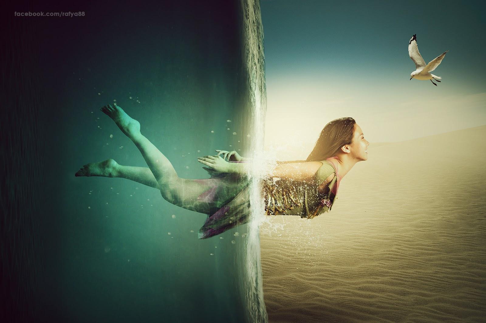 making creative under water manipulation scene effect in