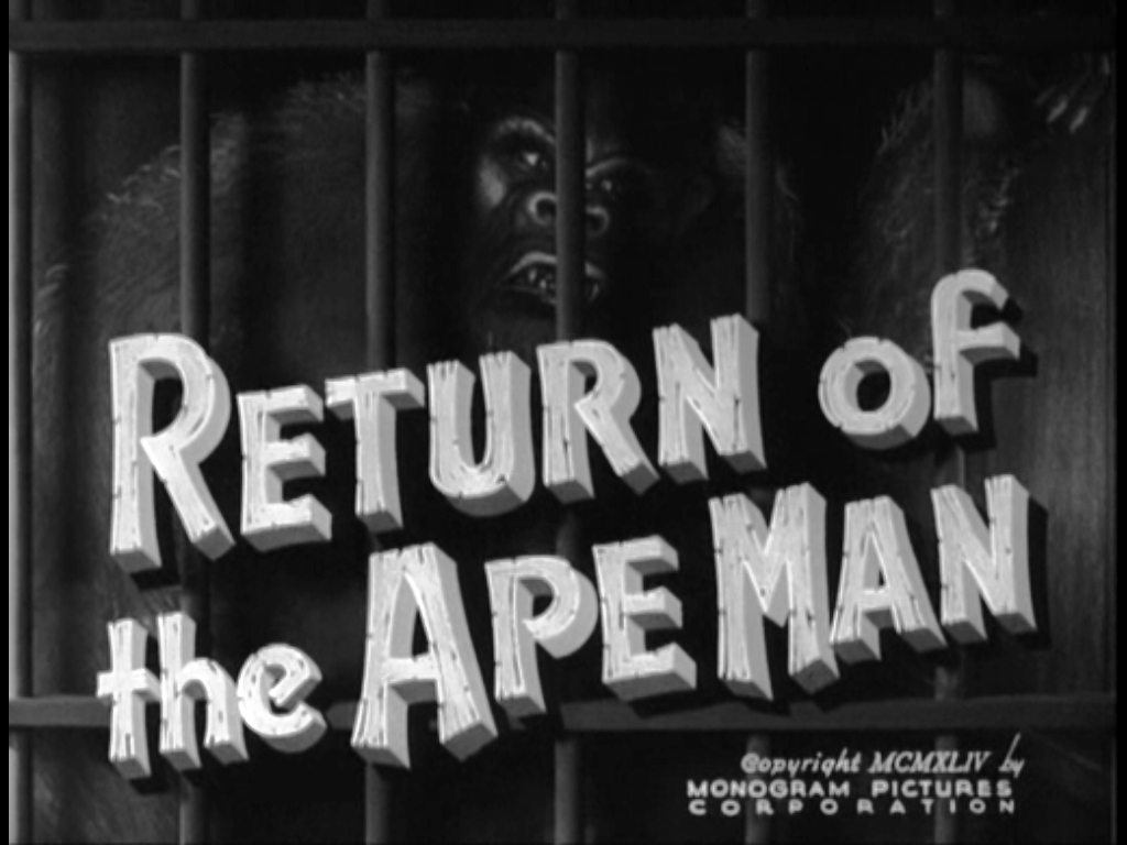 Matinee Double Feature Number 5: Fog Island/ Return of the Ape Man