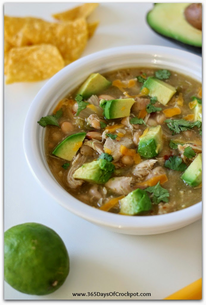 365 Days of Slow Cooking: Slow Cooker Green Chicken Chili with ...