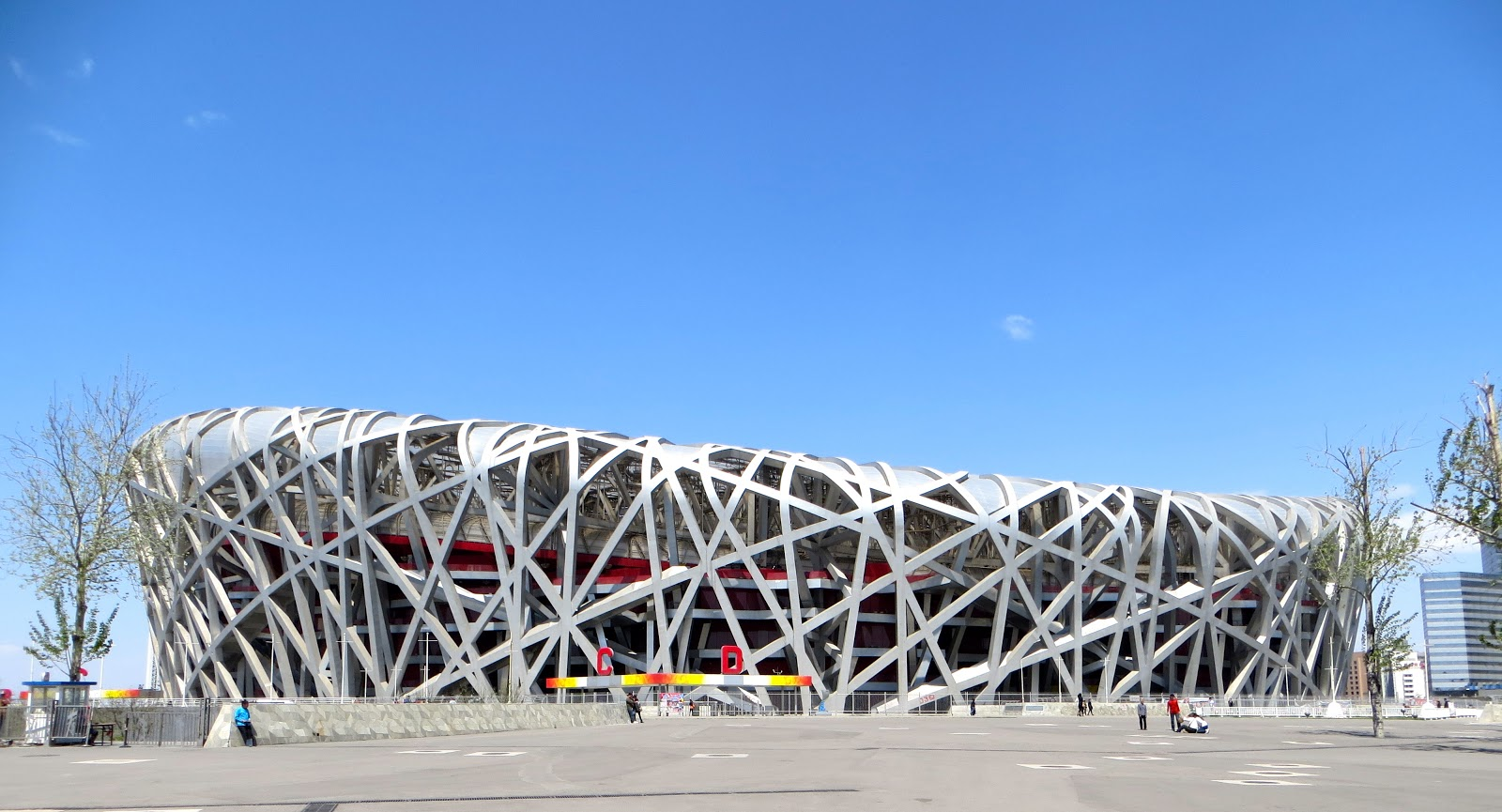 The travelin 39 lundburys thursday in beijing olympic park for The bird s nest stadium