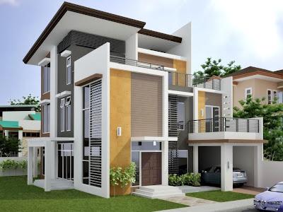 Gambar rumah modern minimalis lantai 2