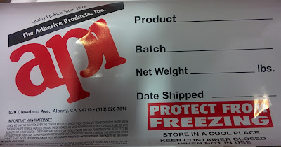 Adhesive Products Inc. Label
