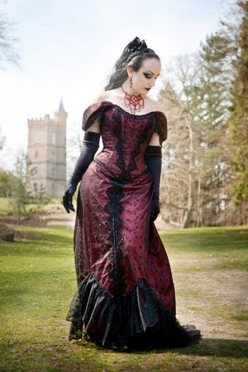 This alternative wedding gown below is Gothic Victorian Formal Dresses with