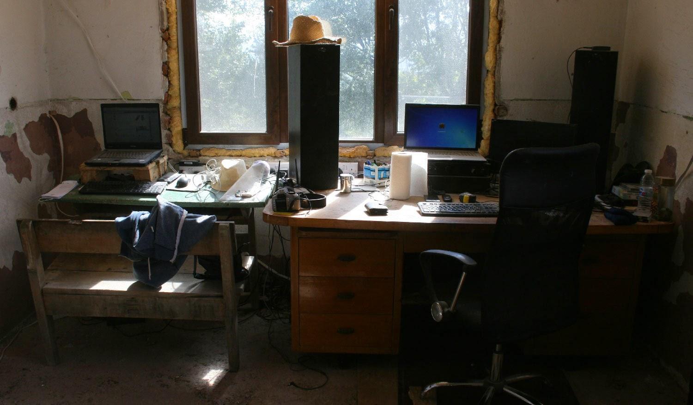 Much better arrangement for our desks