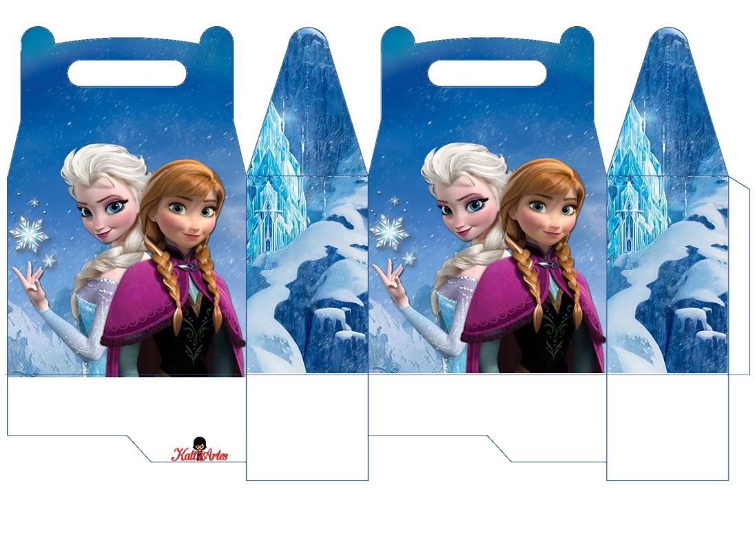 Frozen: Caja para Lunch, para Imprimir Gratis.