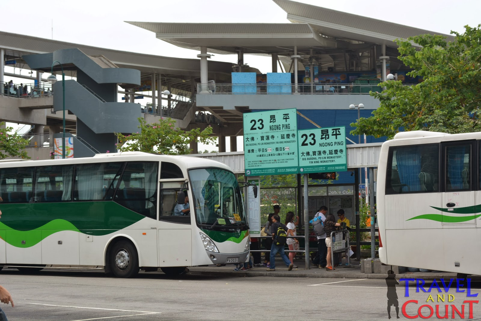 Bus 23 to Ngong Ping Lantau