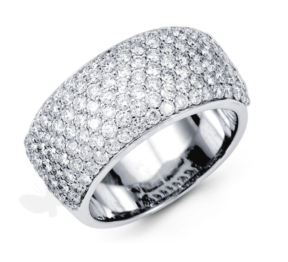 Diamond Rings and Necklaces: Pave Diamond Ring