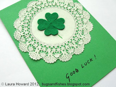DIY Lucky Four-leaf Clover Card