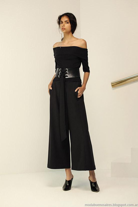 Top blusa escote bote, moda primavera verano 2016 María Cher.