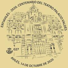 Matasellos del Teatro Palacio Valdés de Avilés