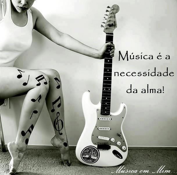 """""""A música está no meu sangue"""""""
