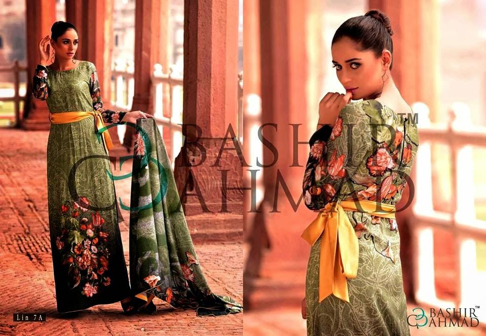 BashirAhmedLinen2013 14 wwwfashionhuntworldblogspotcom 020 - Bashir Ahmed Linen Dresses 2013 / 2014