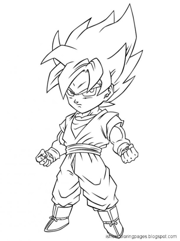 Dragon Ball Z Coloring Pages Free Coloring Pages