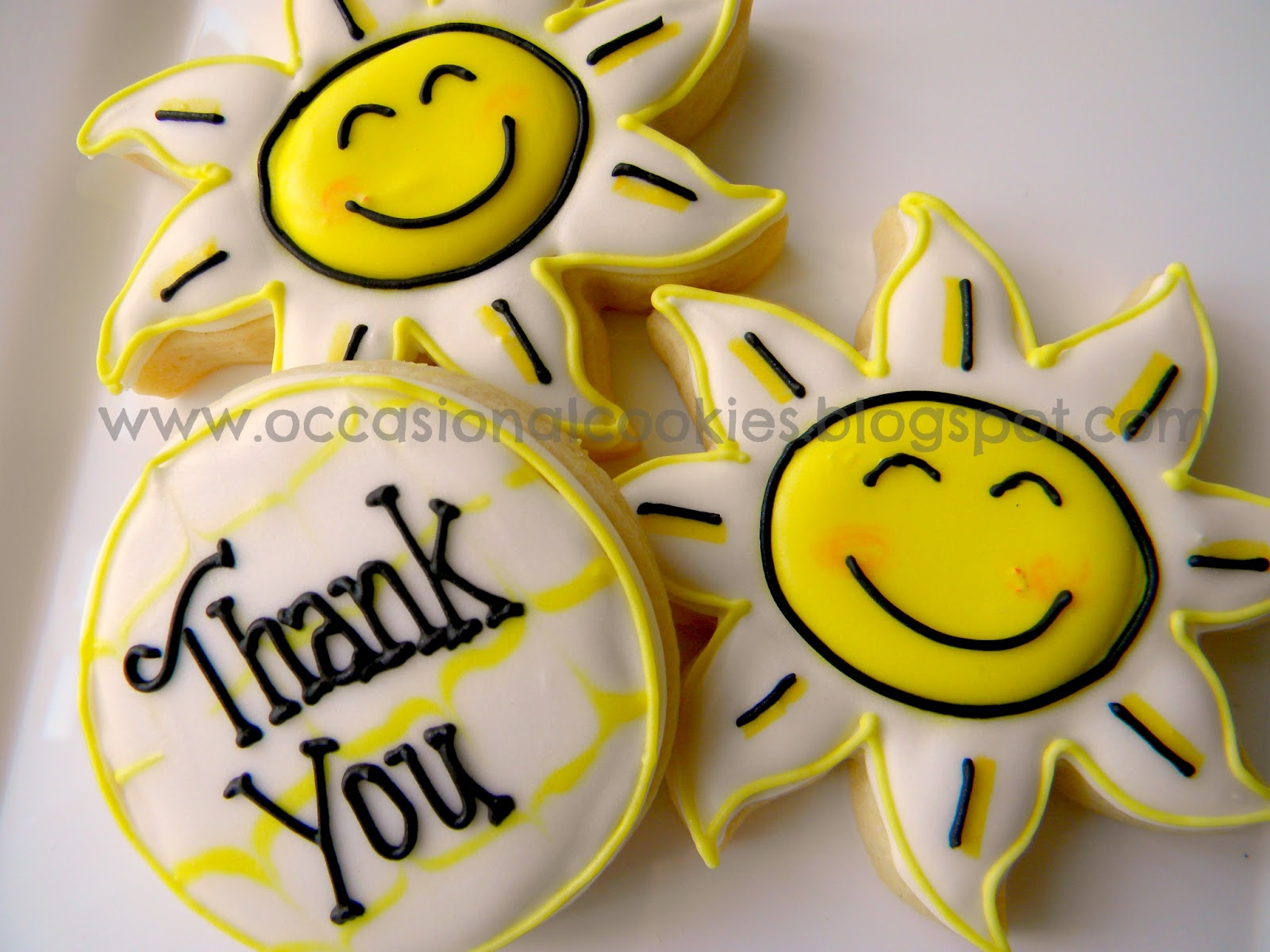 Occasional cookies happy thank you cookies
