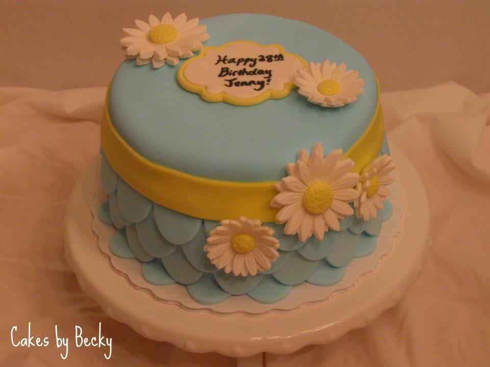 Cakes by Becky Daisy Birthday Cake