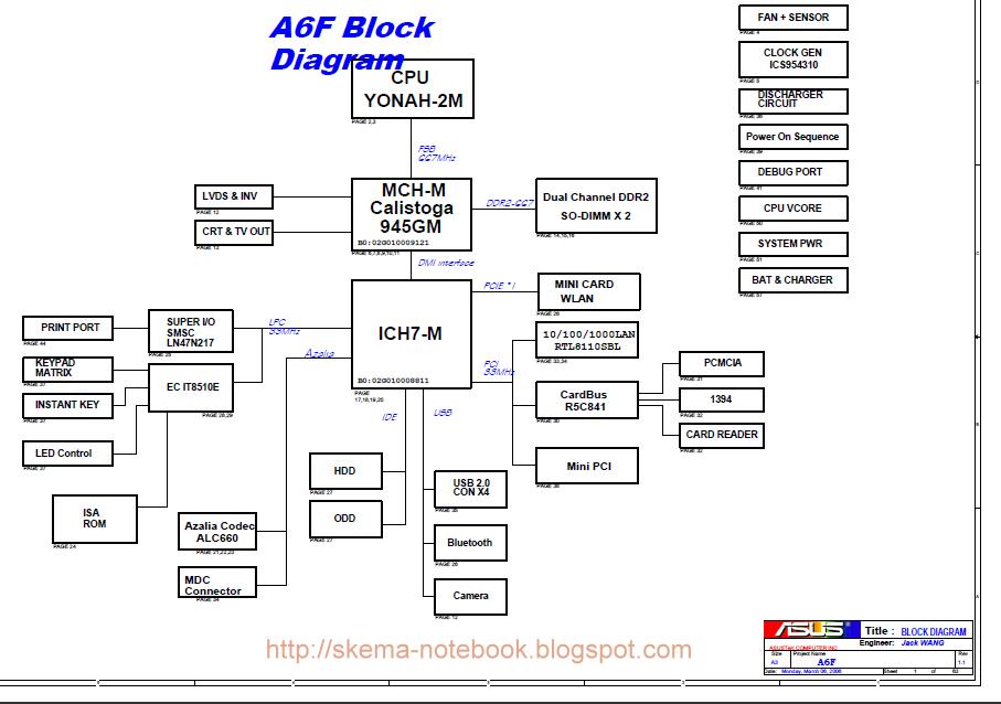 asus a6f schematics