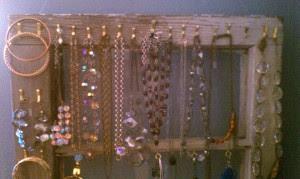 jewelry organization,how to,diy necklace stands,earring stands,organize your jewelry,jewelry organizers
