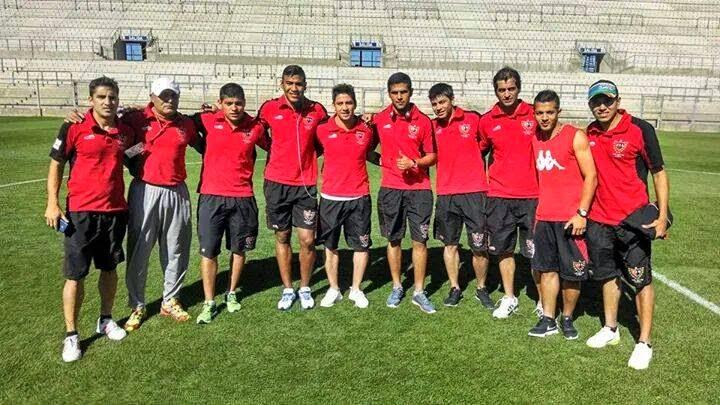 Fernando Biela, Dario Soplan y Marcos Vallejos, junto a Hernan Pereyra y Jefferson Sanchez.