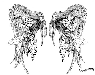 Wings Tattoo Sketch Designs