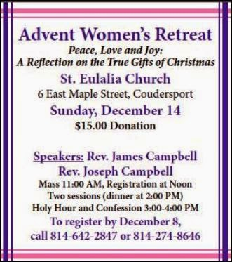 12-14 Advent Women's Retreat
