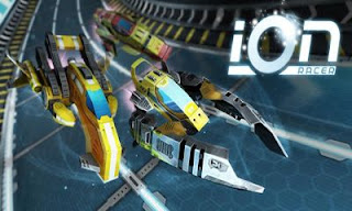 Screenshots of the Ion Racer for Android tablet, phone.