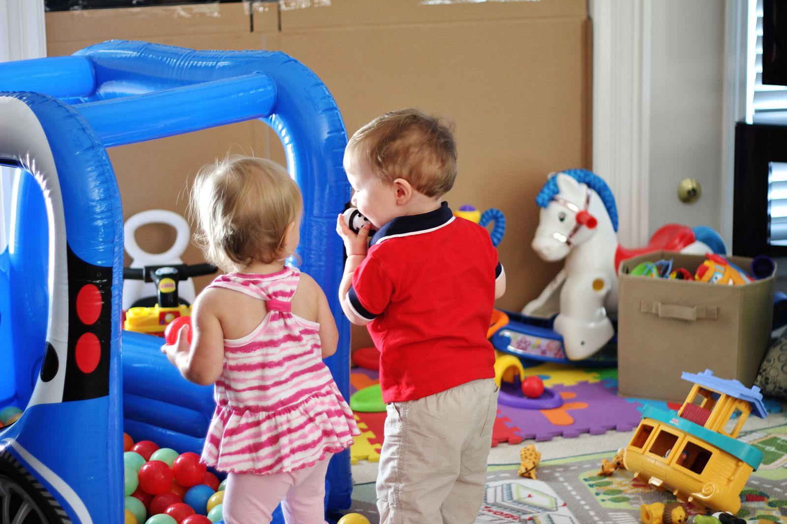 The gentry 39 s journey lila visits the baby brigade for Ball pits near me