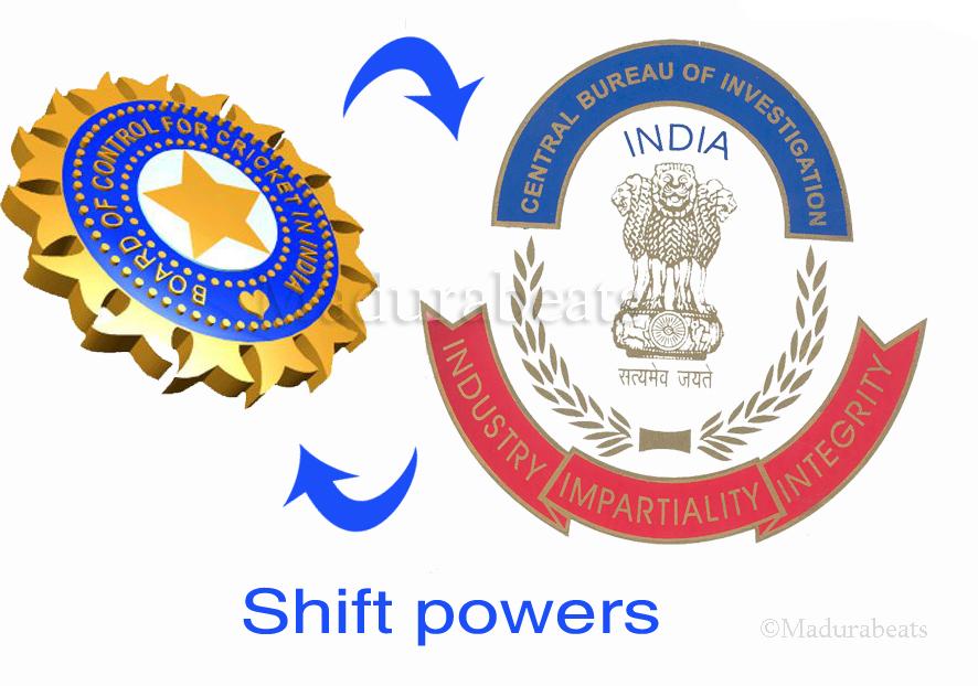 CBI - BCCI - shift powers