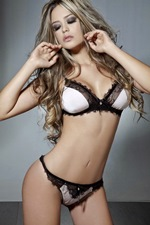 Vanessa David de Lingerie Branca